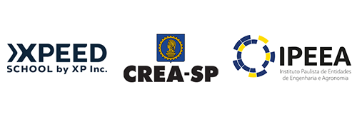 A Enginvest é parceira da Xpeed, do CREA-SP e do IPEEA
